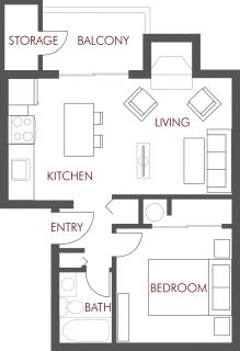 1 Bed / 1 Bath / 570 sq ft / Availability: Please Call / Deposit: $200 * / Rent: $940