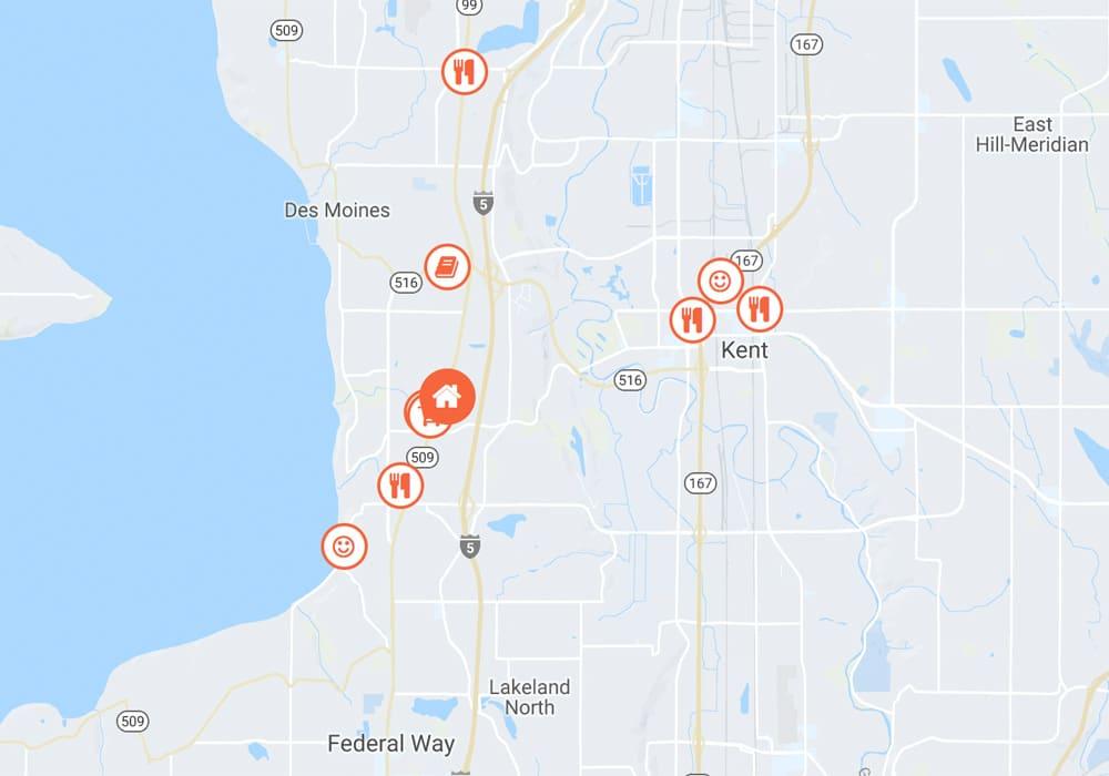 Nearby Location Hotspots Map